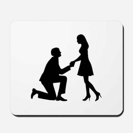 Wedding Marriage Proposal Mousepad