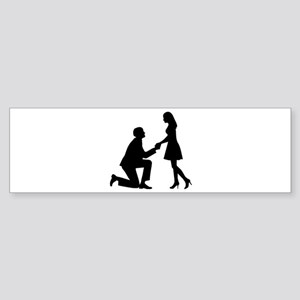 Wedding Marriage Proposal Sticker (Bumper)