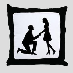 Wedding Marriage Proposal Throw Pillow