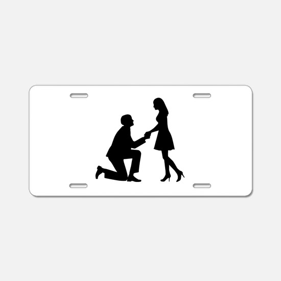 Wedding Marriage Proposal Aluminum License Plate