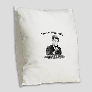 JFK Liberty Burlap Throw Pillow