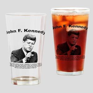 JFK Liberty Drinking Glass