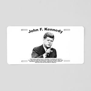 JFK Liberty Aluminum License Plate