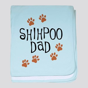 Shihpoo Dad baby blanket