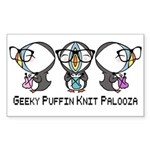 Geeky Puffin Knit Palooza Sticker