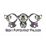 Geeky Puffin Knit Palooza Wall Sticker
