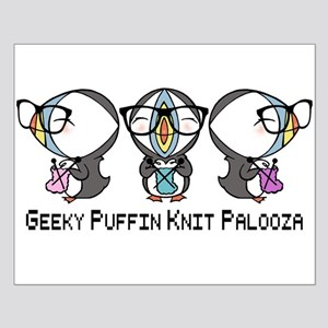 Geeky Puffin Knit Palooza Poster Design
