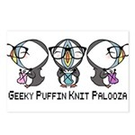 Geeky Puffin Knit Palooza Postcards (Package of 8)