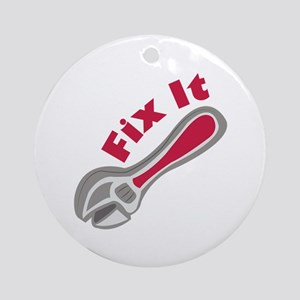 Fix It Ornament (Round)