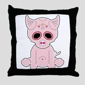 Sugar Piggie - Color Throw Pillow
