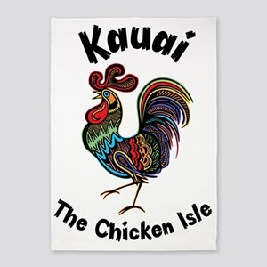 Kauai - The Chicken Isle 5'x7'Area Rug