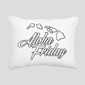 Hawaii Aloha Friday Urba Rectangular Canvas Pillow