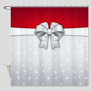 Simplistic Holiday Shower Curtain