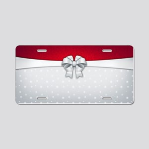 Simplistic Holiday Aluminum License Plate