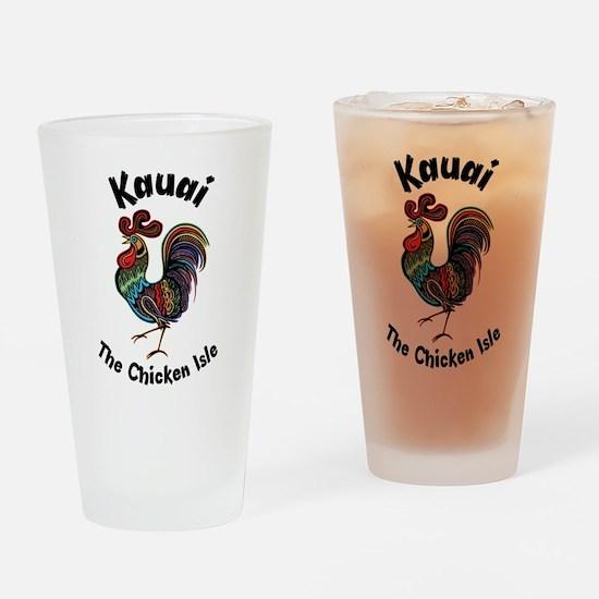 Kauai - The Chicken Isle Drinking Glass
