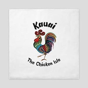 Kauai - The Chicken Isle Queen Duvet
