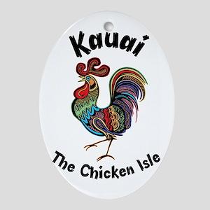 Kauai - The Chicken Isle Ornament (Oval)