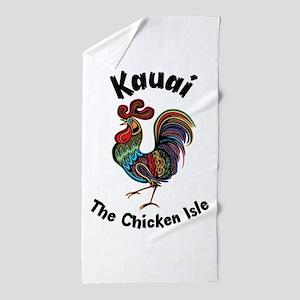 Kauai - The Chicken Isle Beach Towel