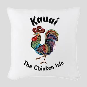 Kauai - The Chicken Isle Woven Throw Pillow