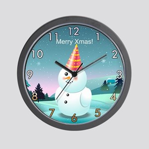 Customizable Snowman Wall Clock