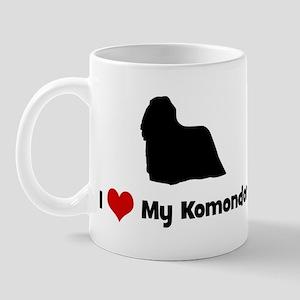 I Love My Komondor Mug