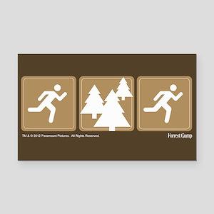 Run Forrest Run Rectangle Car Magnet