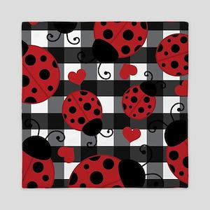 ladybug lover Queen Duvet