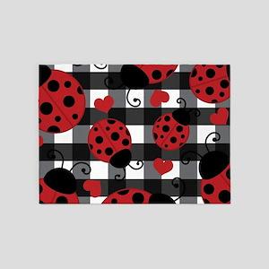 ladybug lover 5'x7'Area Rug
