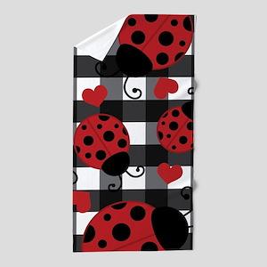 ladybug lover Beach Towel