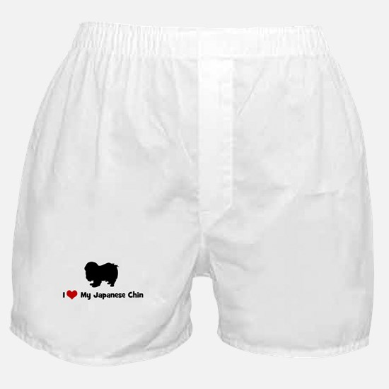 I Love My Japanese Chin Boxer Shorts