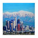 Los Angeles Ca Square Tile Coaster