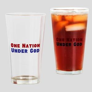 One Nation Under God Drinking Glass