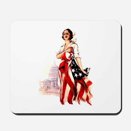 Vintage Flag Art Mousepad