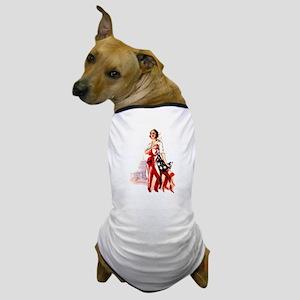 Vintage Flag Art Dog T-Shirt