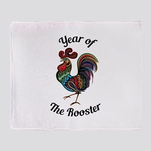 Year of the Rooster Throw Blanket