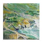 Bixby Bridge Big Sur California Tile Coaster