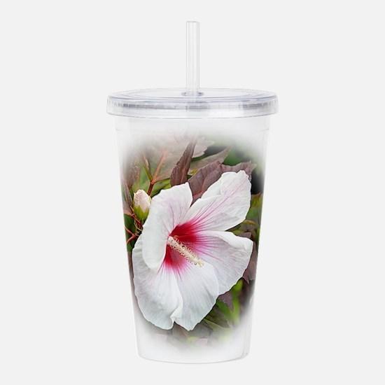 White Hibiscus 1 Acrylic Double-wall Tumbler