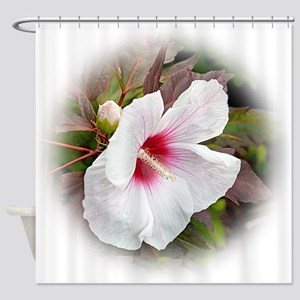 White Hibiscus 1 Shower Curtain