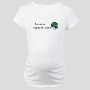 Imagine Whirled Peas Maternity T-Shirt