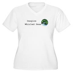 Imagine Whirled Peas Plus Size T-Shirt