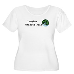 Imagine Whirled Peas Plus Size T-Shirt