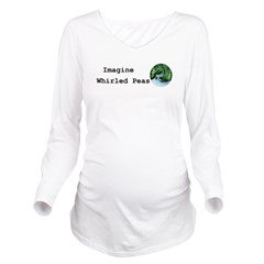 Imagine Whirled Peas Long Sleeve Maternity T-Shirt