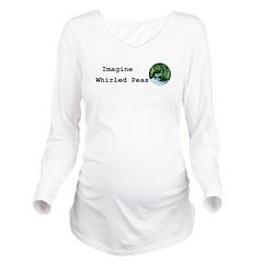 Imagine Whirled Peas Long Sleeve Maternity T-Shirt