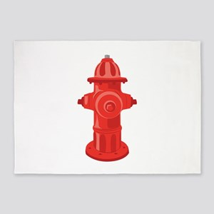 Fire Hydrant 5'x7'Area Rug