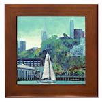 Sailing San Francisco Bay Framed Tile
