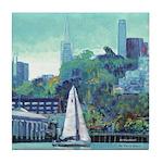 Sailing San Francisco Bay Tile Coaster