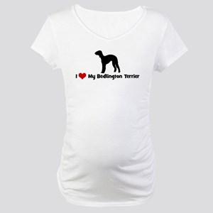 I Love My Bedlington Terrier Maternity T-Shirt