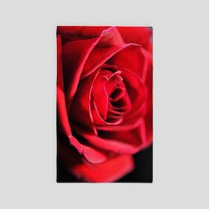 Red Rose Profile Area Rug