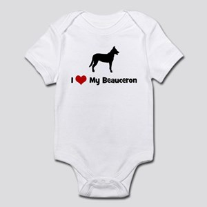 I Love My Beauceron Infant Bodysuit