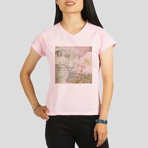 Pink bird floral Performance Dry T-Shirt
